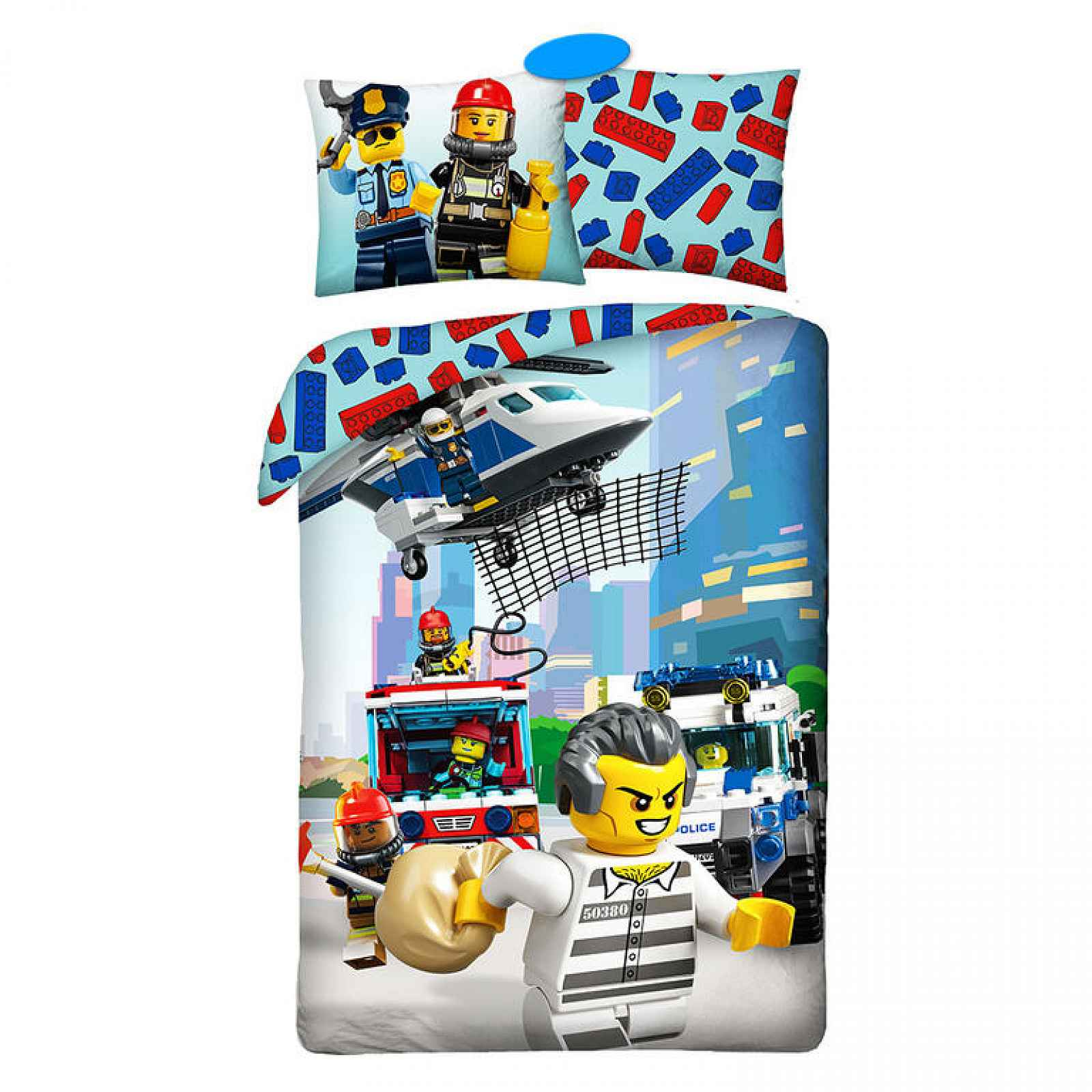 Bavlněné  povlečení LEGO CITY 140 x 200 cm, 70 x 90 cm