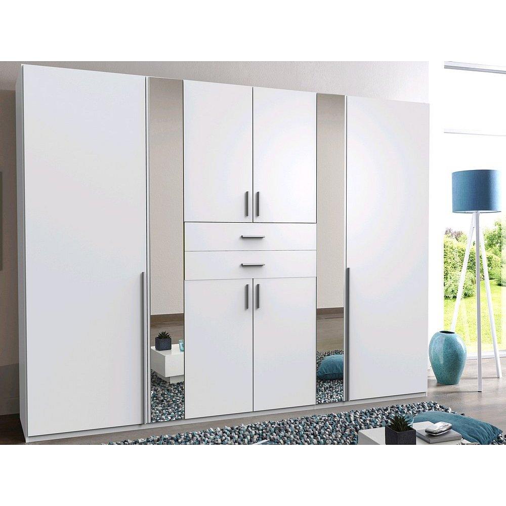 Šatní skříň Vanea, 270 cm, bílá