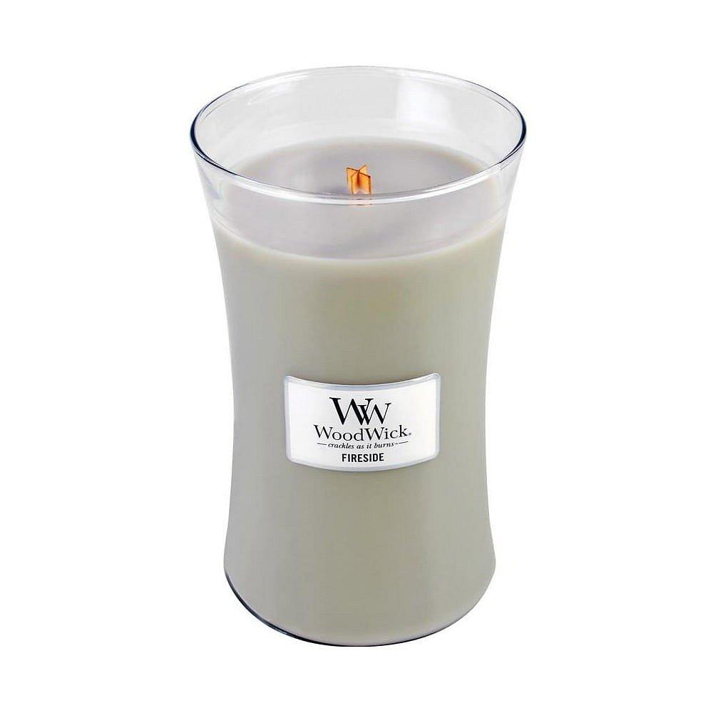 Vonná svíčka WoodWick Oheň v krbu, 110hodin hoření