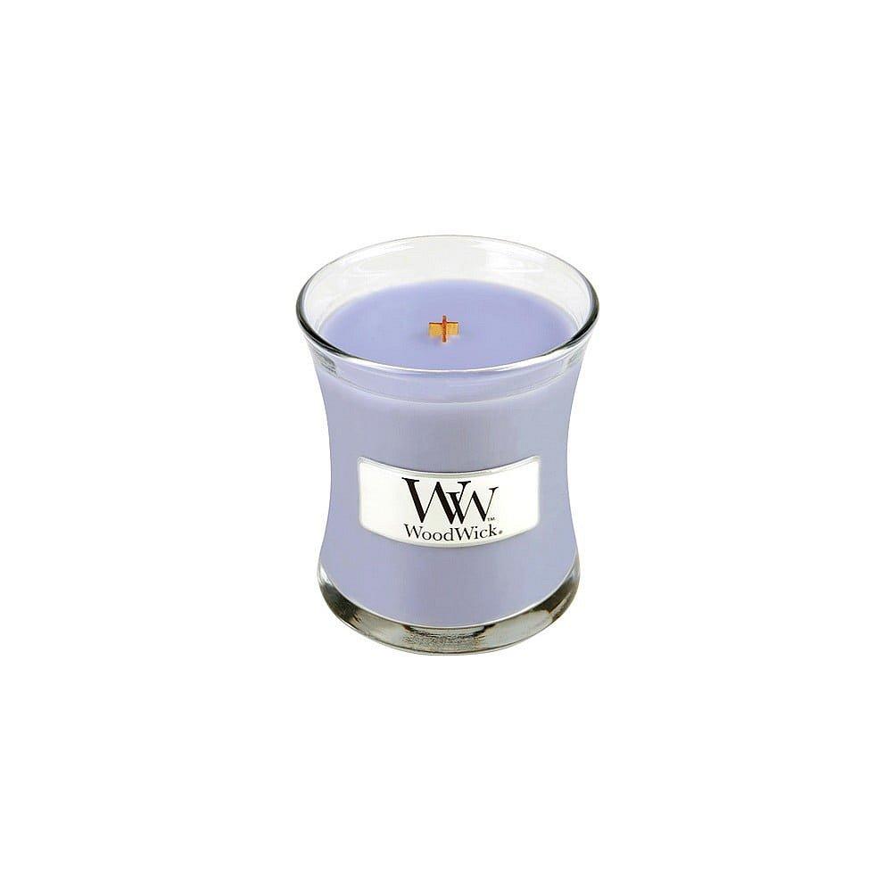 Vonná svíčka WoodWick Levandulová lázeň, 20 hodin hoření