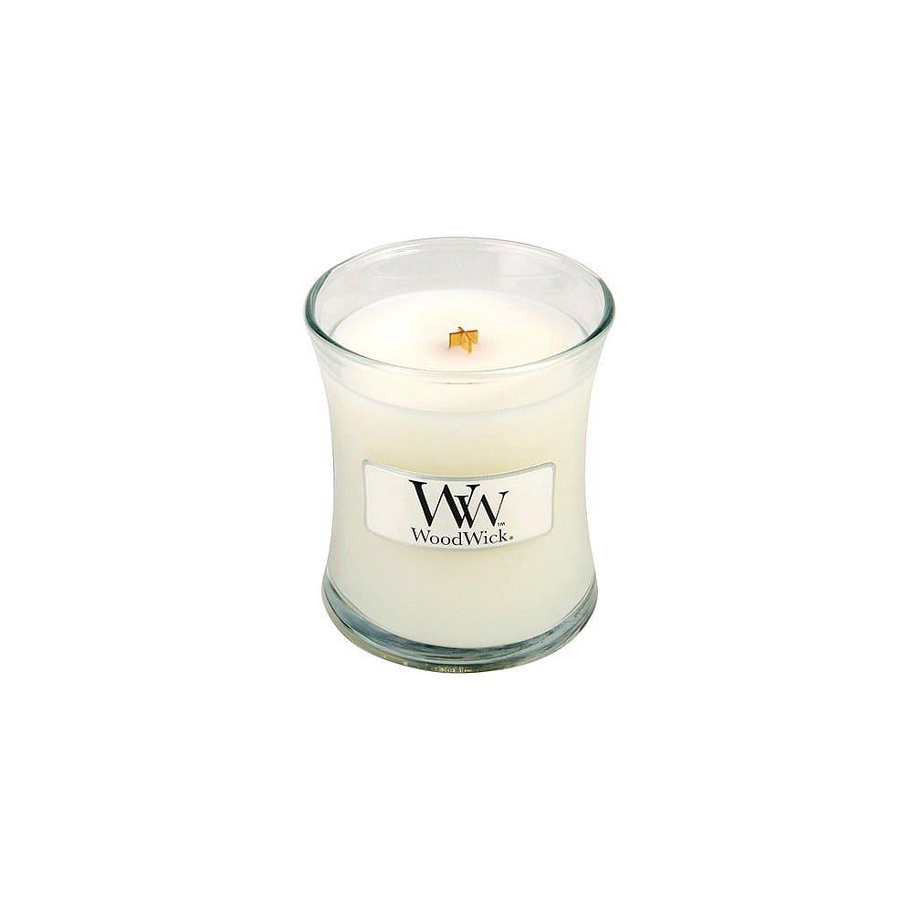 Svíčka s vůní vanilky, medu a růže WoodWick Dětský pudr, dobahoření20hodin