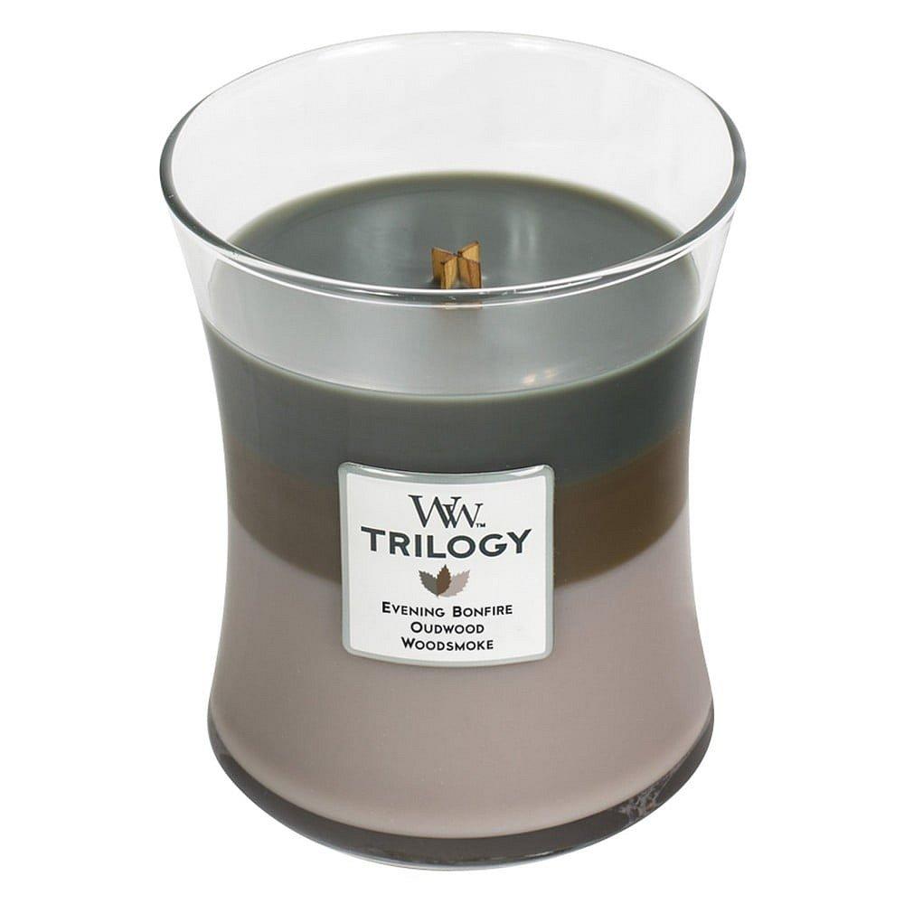Svíčka s vůní cedrového dřeva a pryskyřice WoodWick Útulný srub, 55hodin hoření