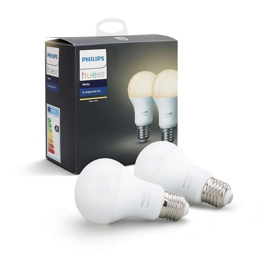 Sada LED žárovek Philips Hue white 2 ks E27 806 lm 2700K