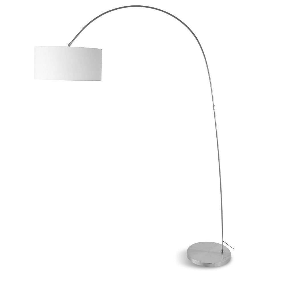 Volně stojící lampa s bílým stínidlem Citylights Bolivia