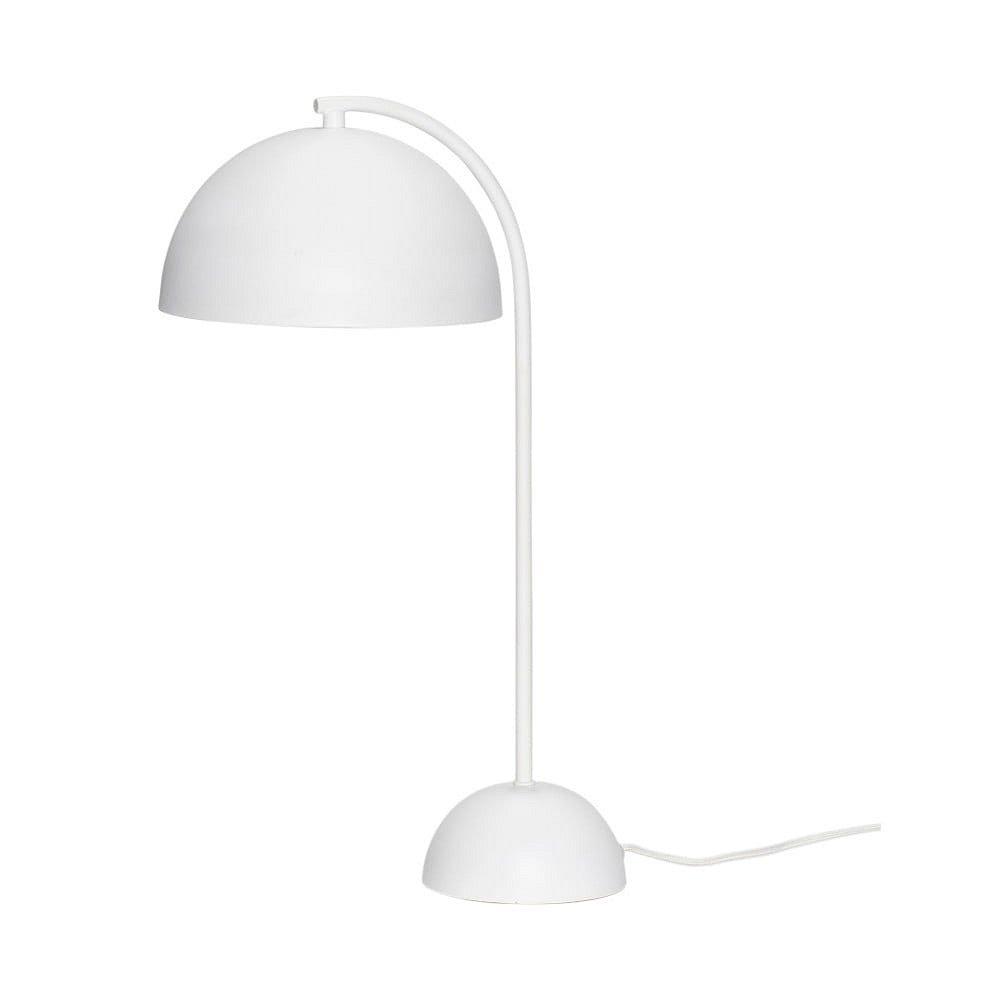 Bílá kovová stolní lampa Hübsch Puro