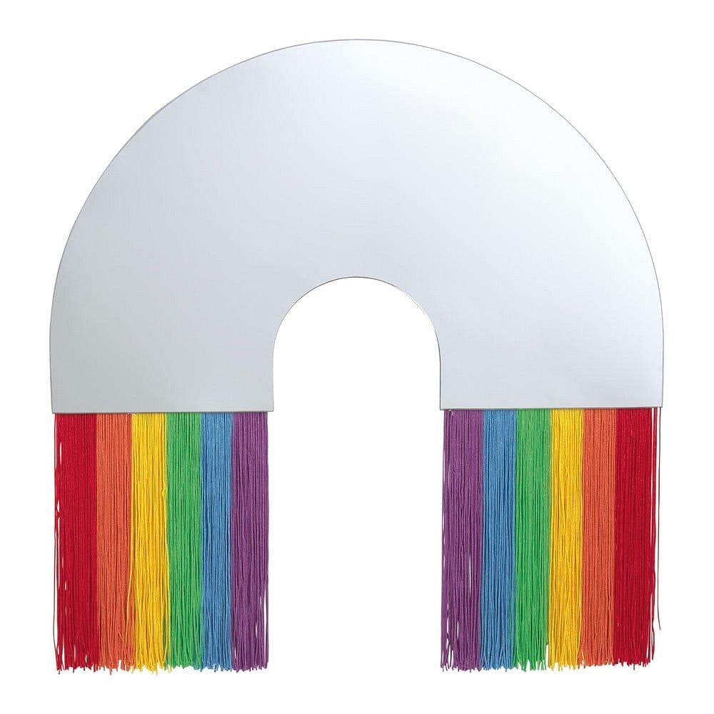 Nástěnné zrcadlo DOIY Rainbow, 48 x 50 cm
