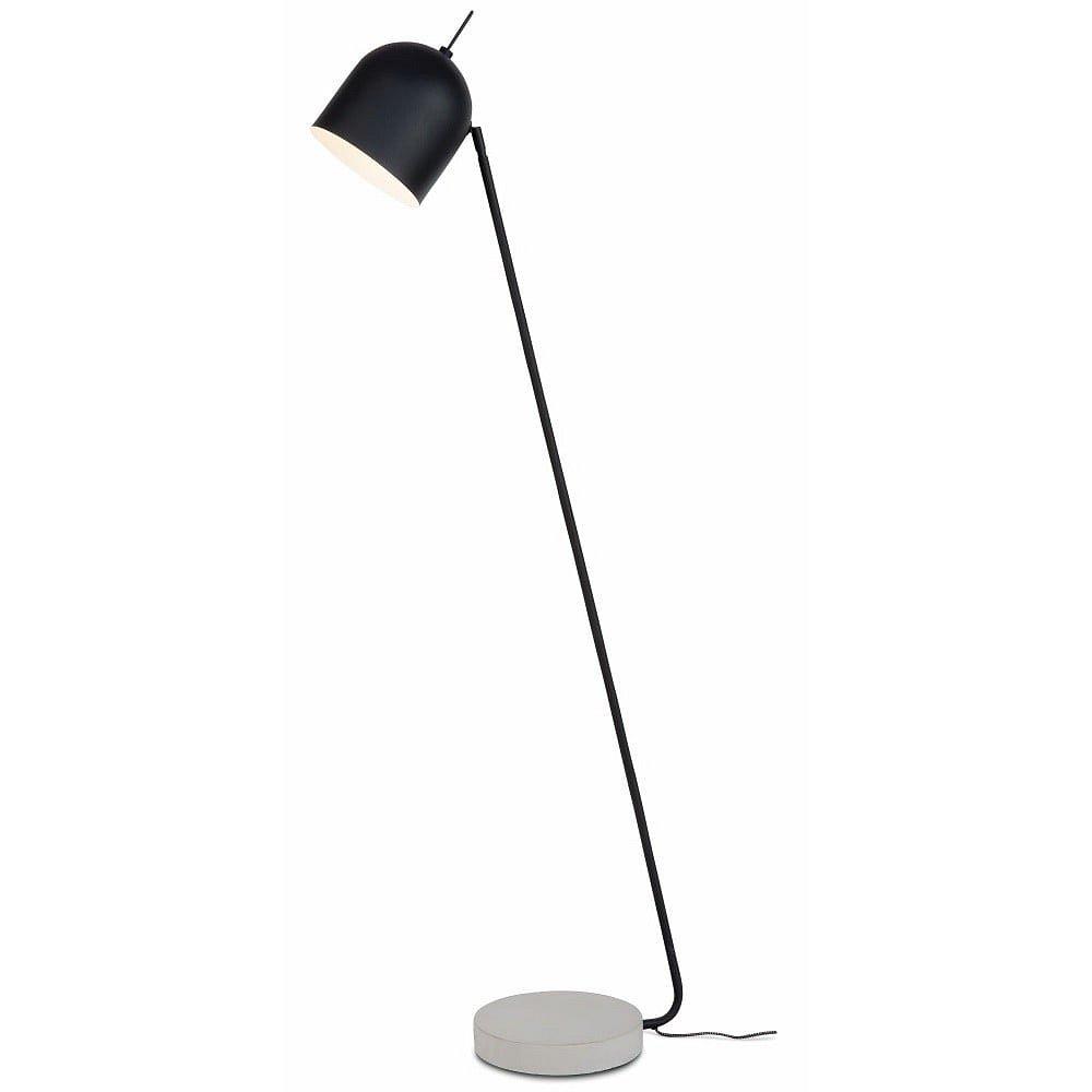 Černá volně stojící lampa s betonovým podstavcem Citylights Madrid