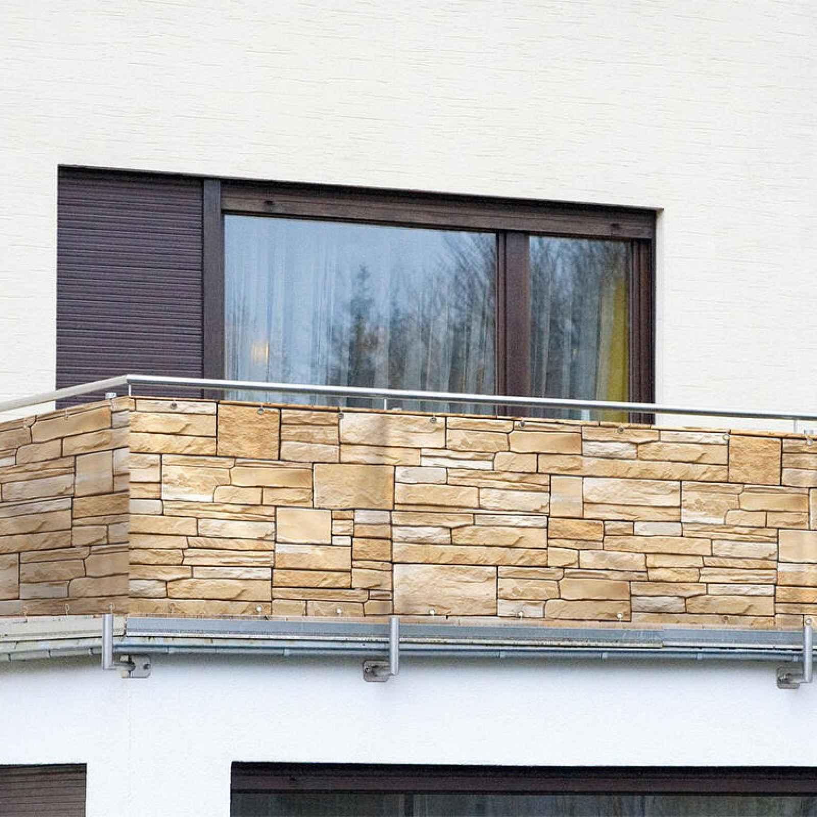 Balkonová zástěna PÍSKOVCOVÉ KAMENY