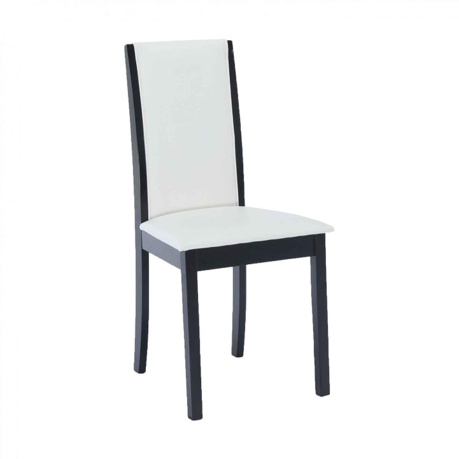 Jídelní židle VENIS NEW wenge / ekokůže bílá Tempo Kondela