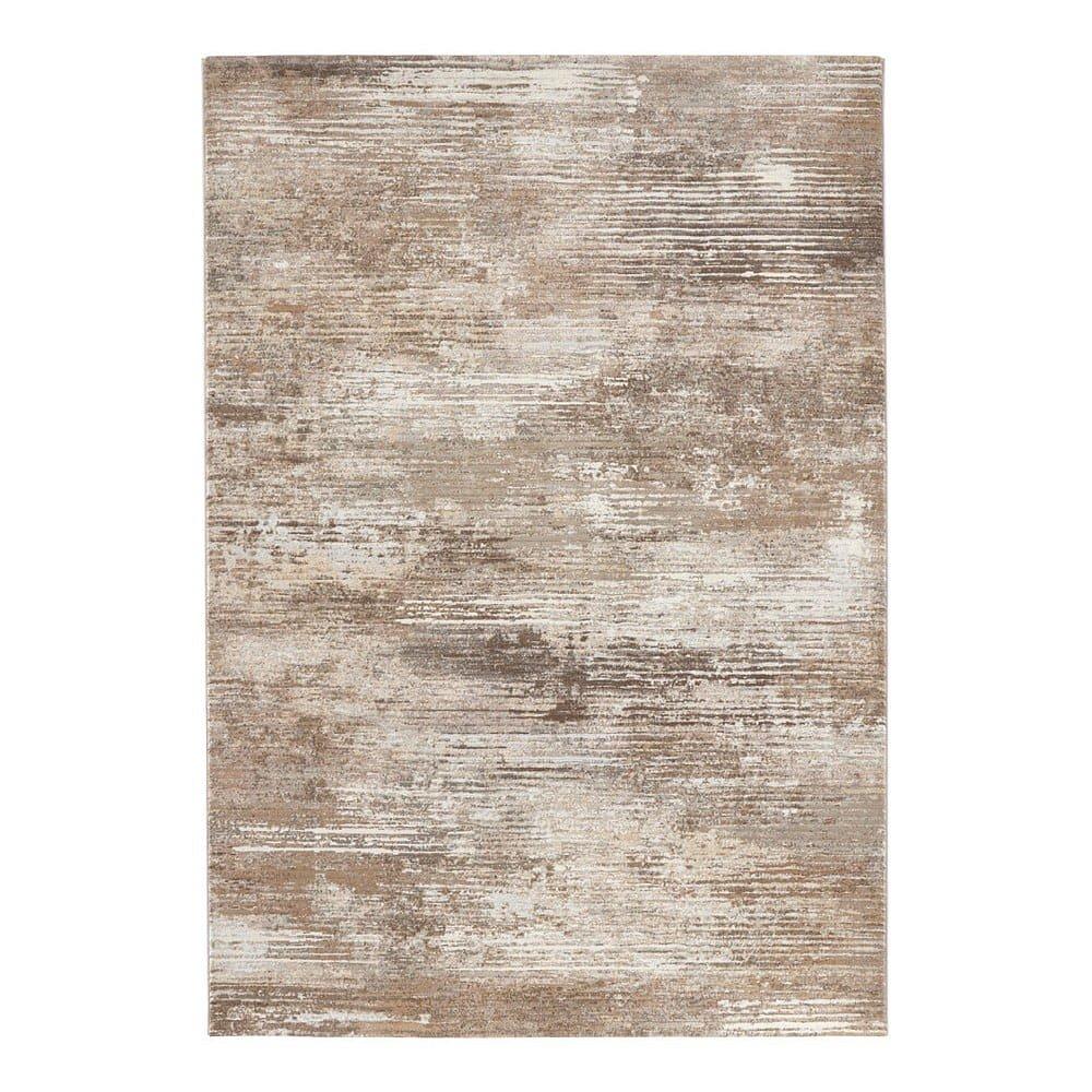 Hnědo-krémový koberec Elle Decor Arty Trappes, 80 x 150 cm