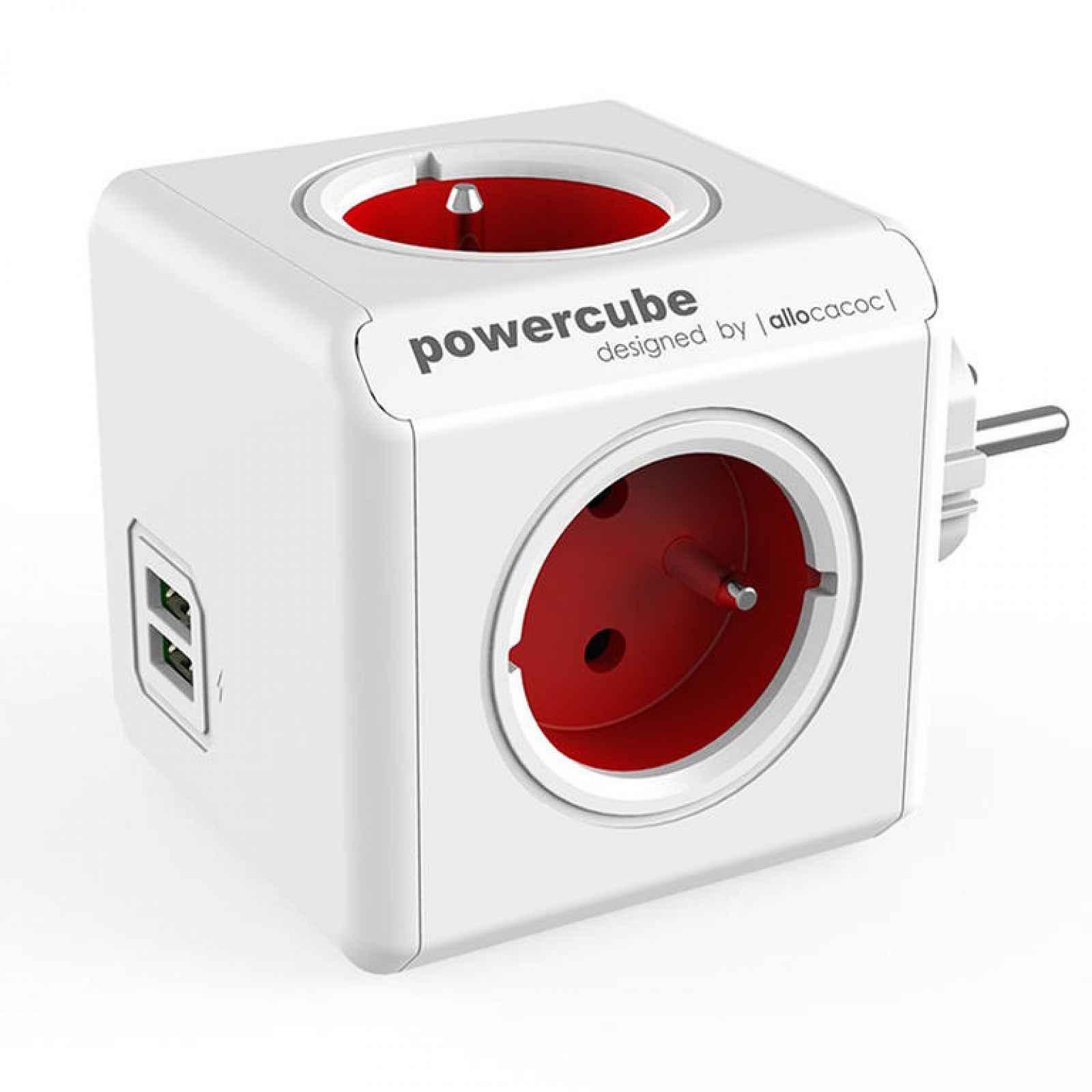 Rozbočovač PowerCube Original USB červený