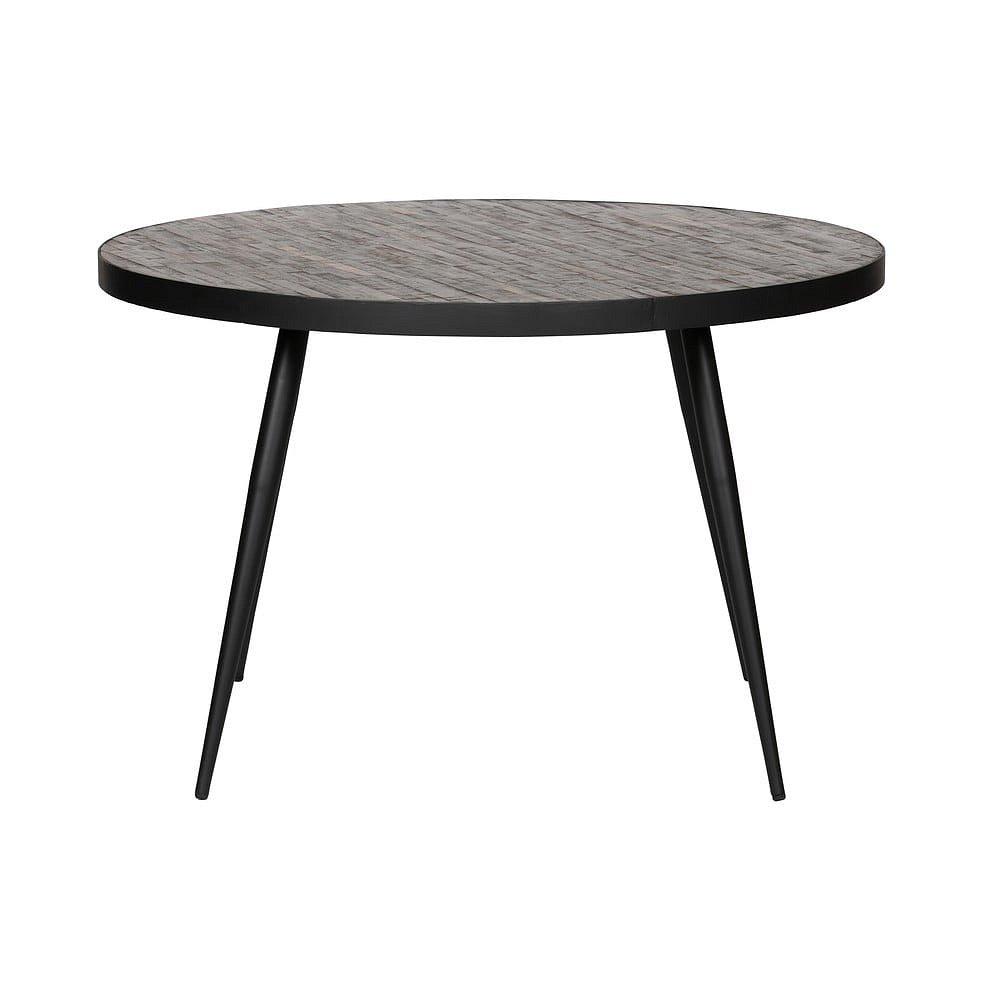 Černý jídelní stůl WOOOD Vic, ⌀120cm