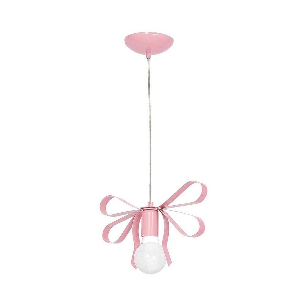 Růžové závěsné svítidlo Emma Uno