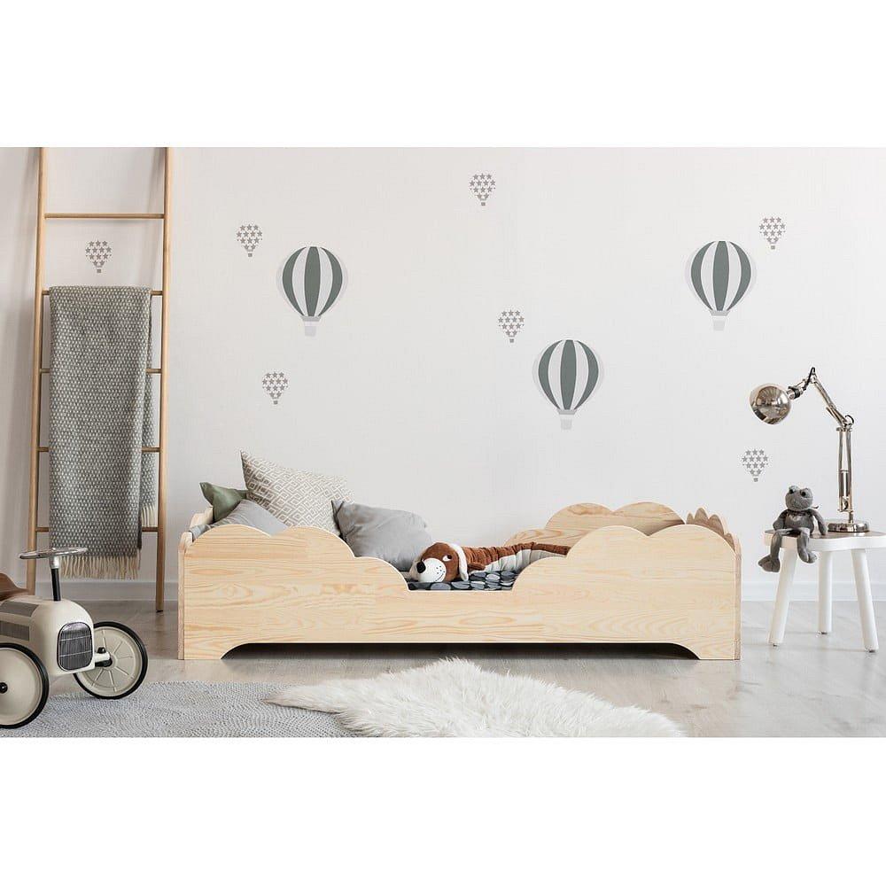Dětská postel z borovicového dřeva Adeko BOX 10, 80x190 cm