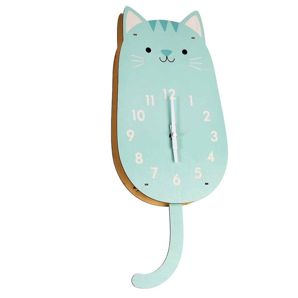 Dřevěné hodiny Rex London Cookie The Cat