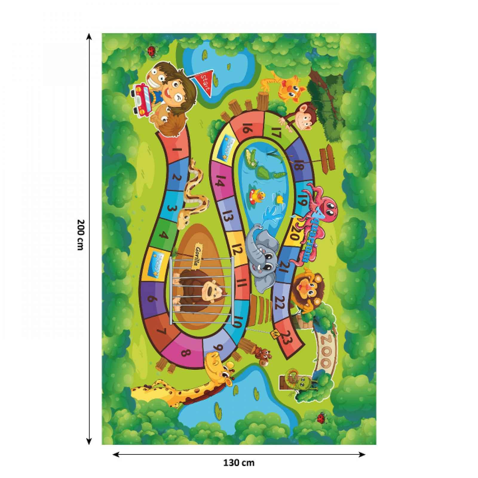 Dětský koberec ZOAN vzor ZOO Tempo Kondela 200x130 cm