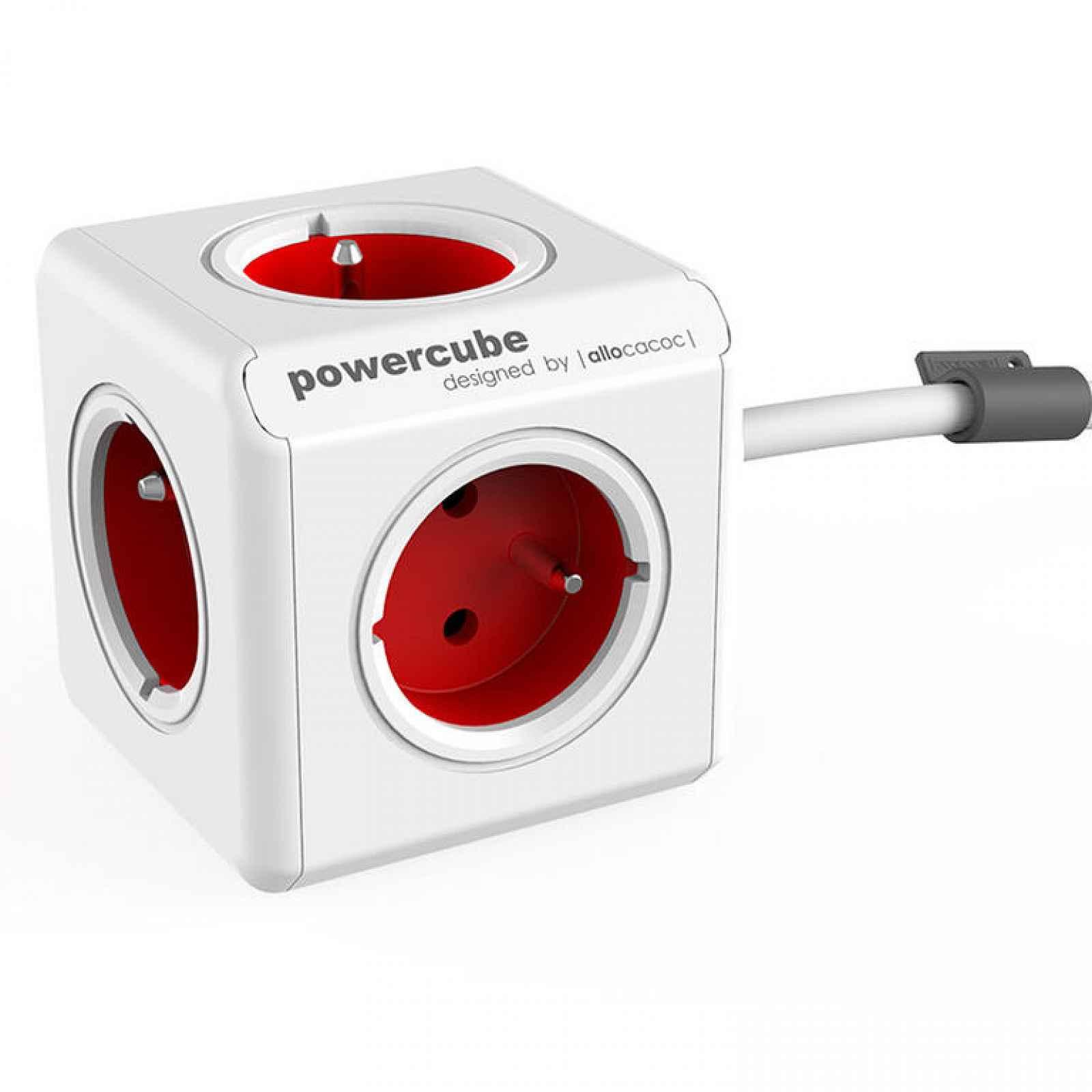 Rozbočovač PowerCube Extended červený 3m