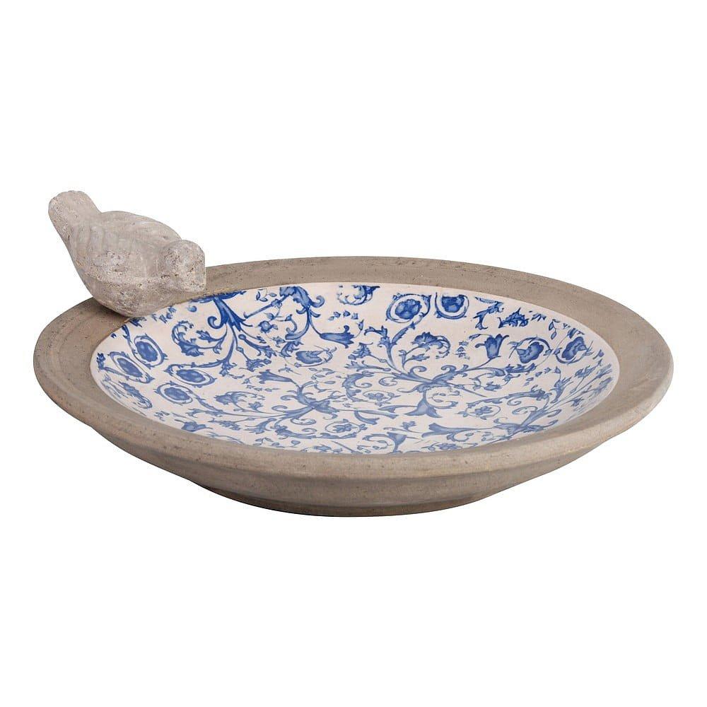 Modrobílé keramické pítko pro ptáčky Esschert Design