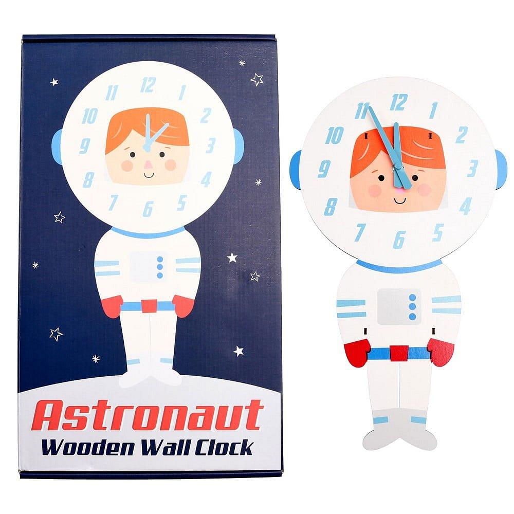 Dětské nástěnné hodiny ze dřeva Rex London Astronaut