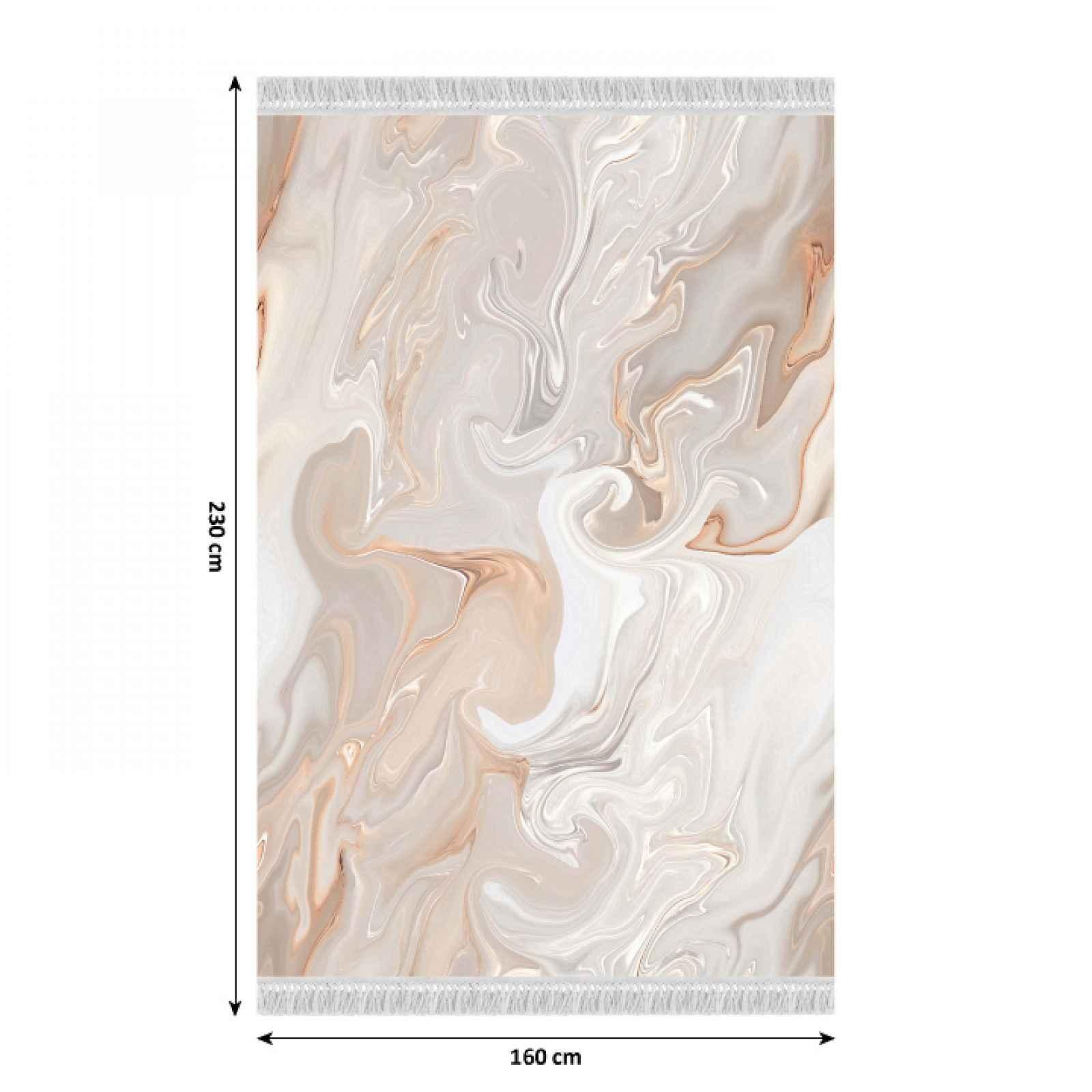 Koberec s třásněmi RENOX TYP 2 béžová / krémová / bílá Tempo Kondela 160x230 cm