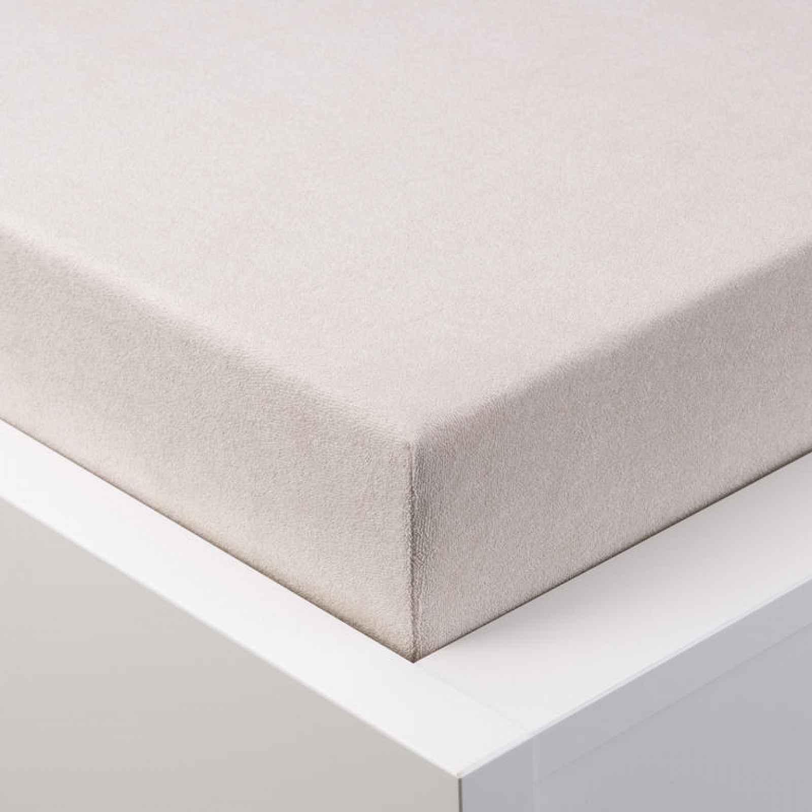 Hermann Cotton Napínací prostěradlo froté EXCLUSIVE latté 180 x 200 cm