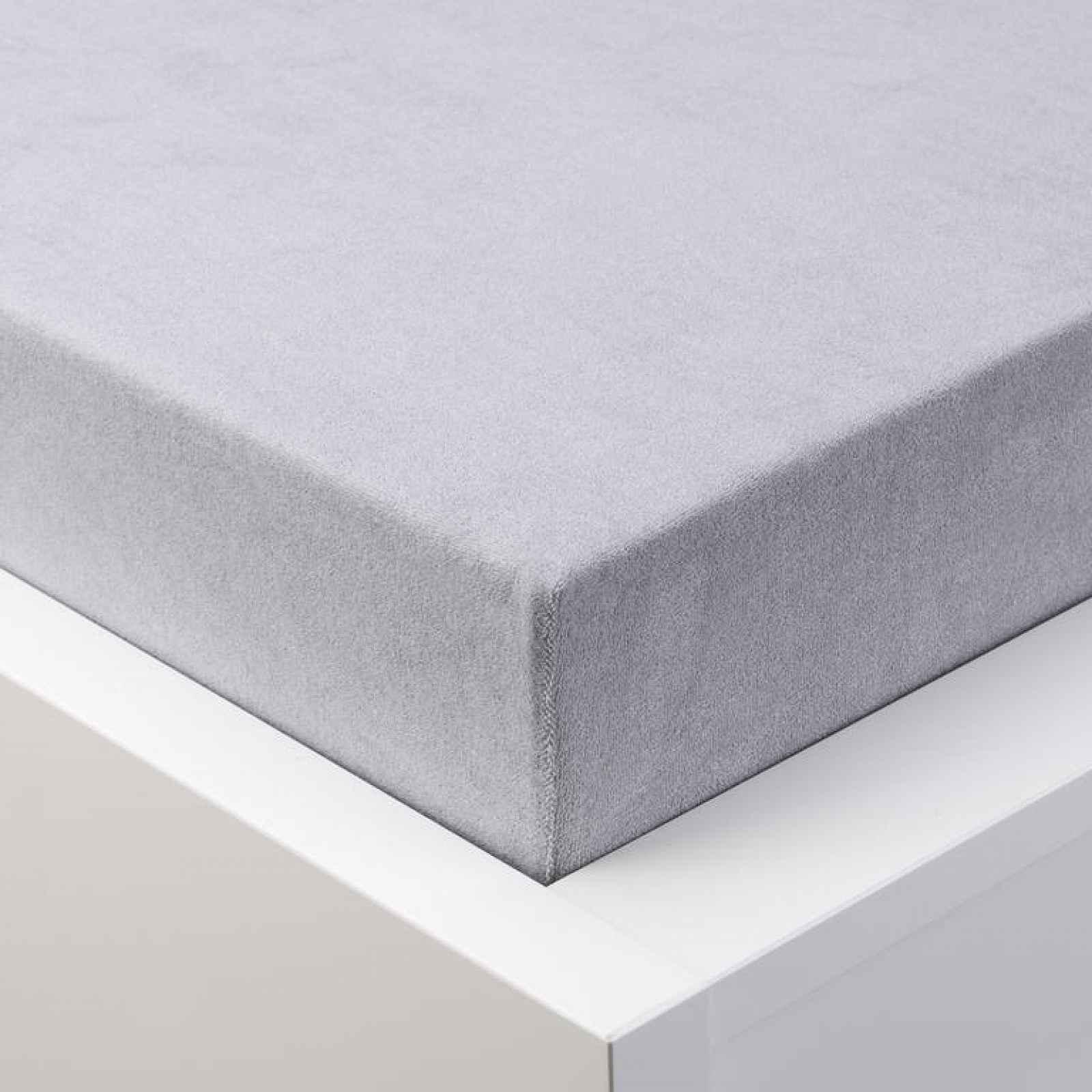 Hermann Cotton Napínací prostěradlo froté EXCLUSIVE šedé 180 x 200 cm