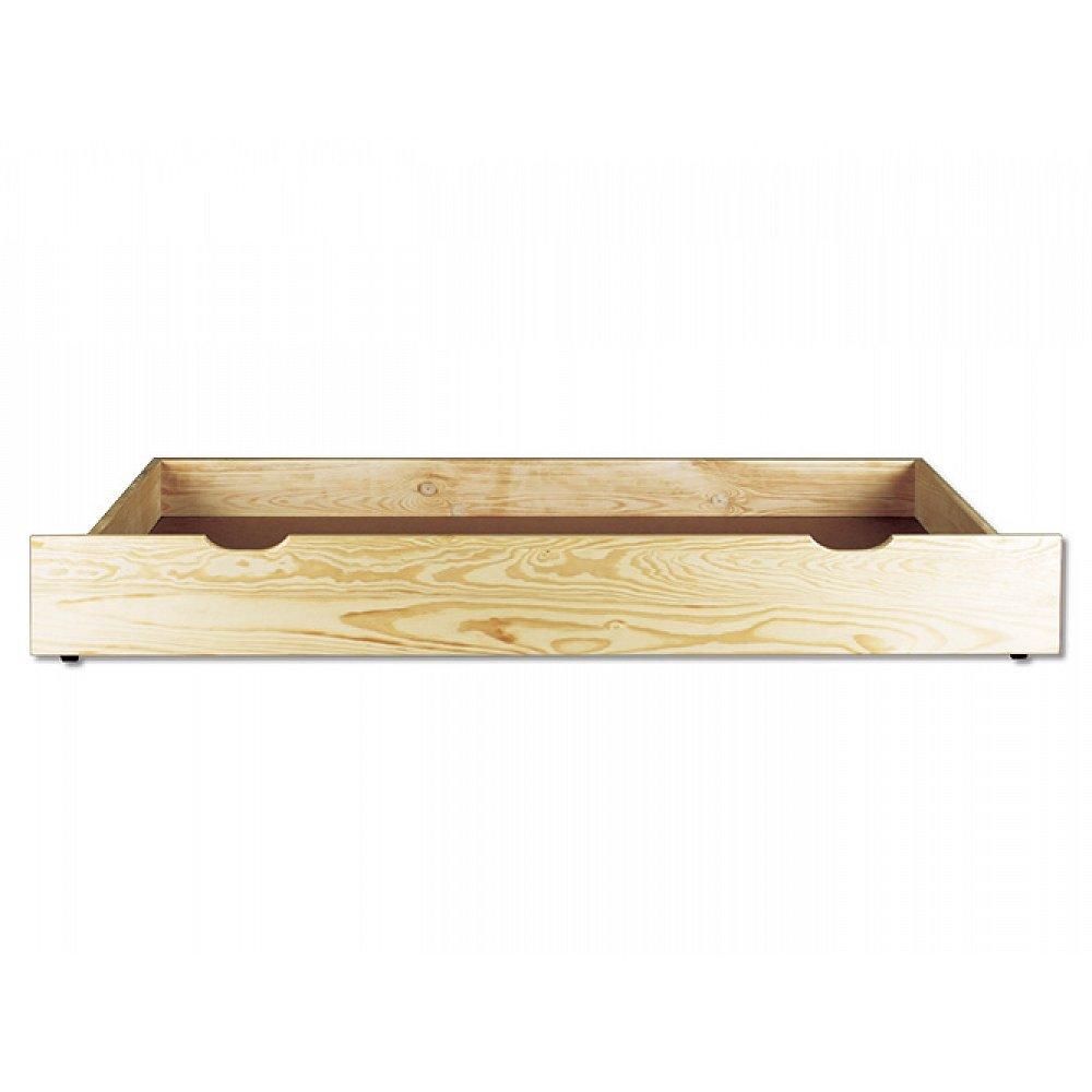 Úložný prostor pod postel LK152, 195x22x69 cm, masiv borovice