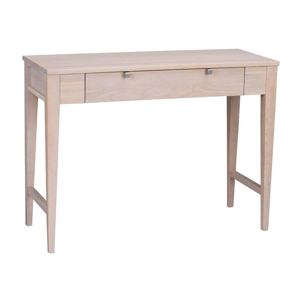 Matně lakovaný dubový konzolový stolek Rowico Fulla