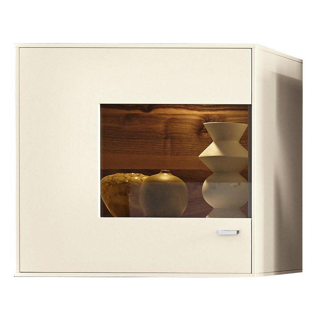 Moderano Závěsná Vitrína, Bílá - Závěsné skříňky - 000112007402