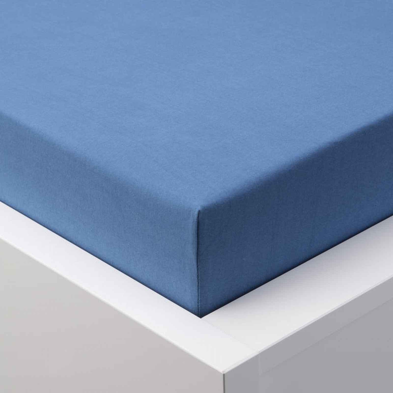 Hermann Cotton Napínací prostěradlo jersey EXCLUSIVE královsky modré 90 - 100 x 200 cm 2 ks