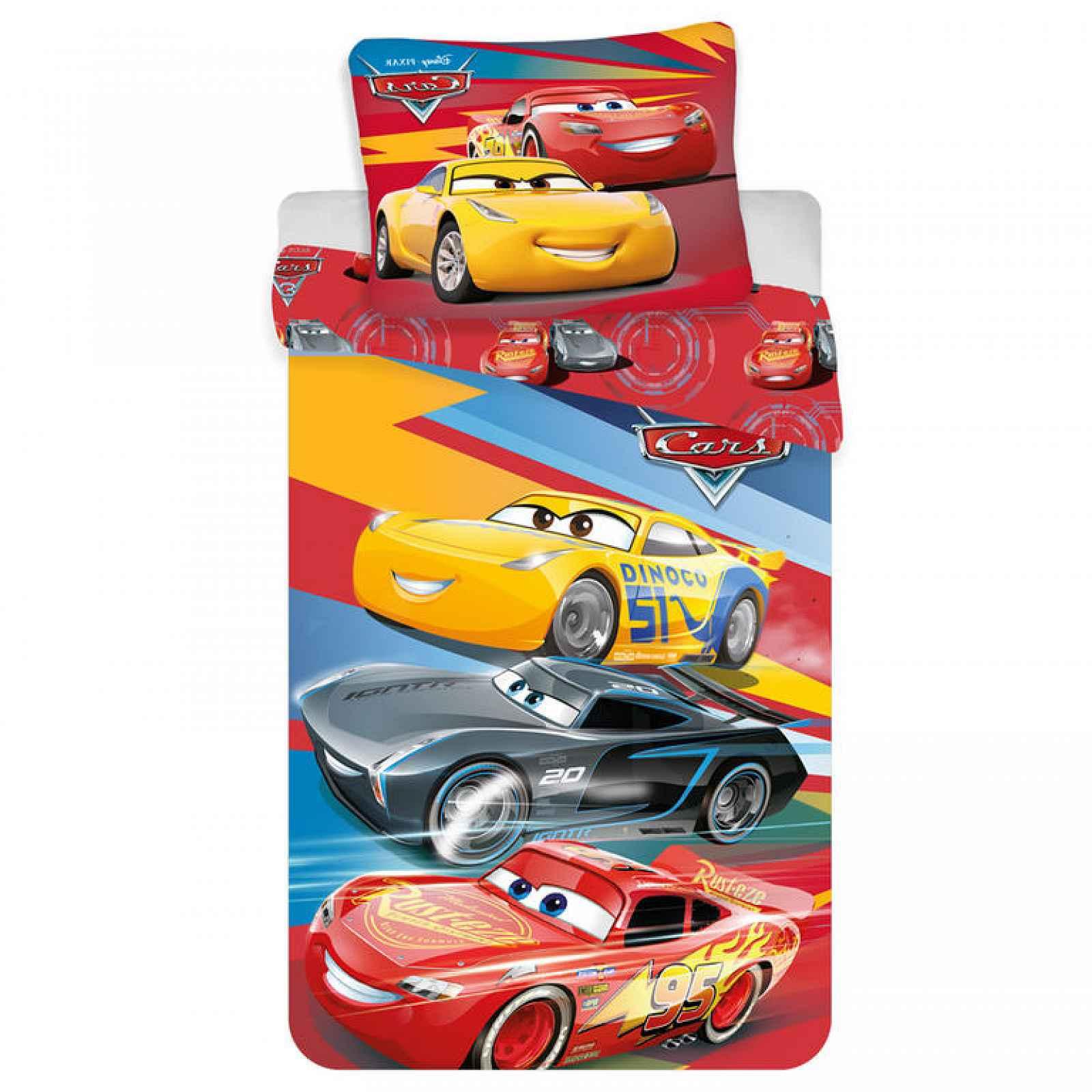 JERRY FABRICS Dadka povlečení pro kluky Cars red 02 140x200 70x90