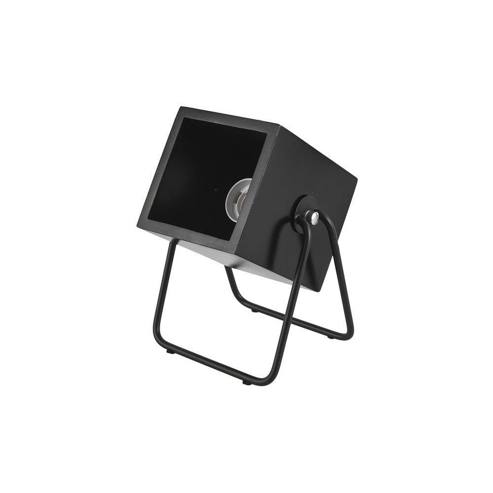 Černá stolní lampa Leitmotiv Hefty Square