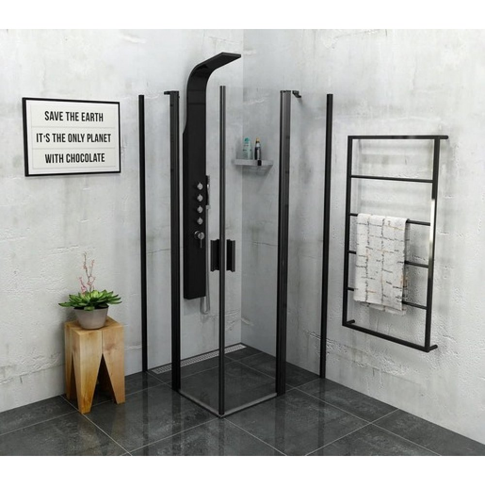 Sprchový kout čtverec 90x90x200 cm Polysan Zoom chrom lesklý ZL5415B
