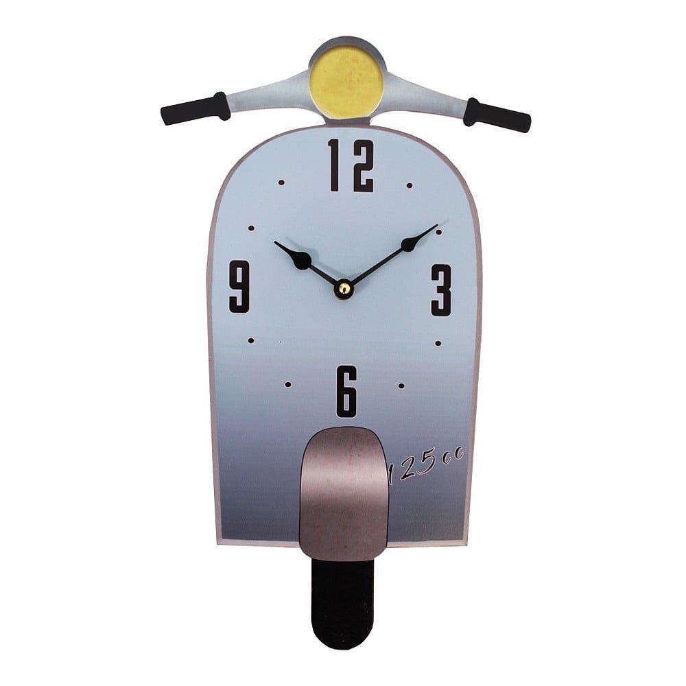 Nástěnné hodiny Antic Line Scoot Bleu