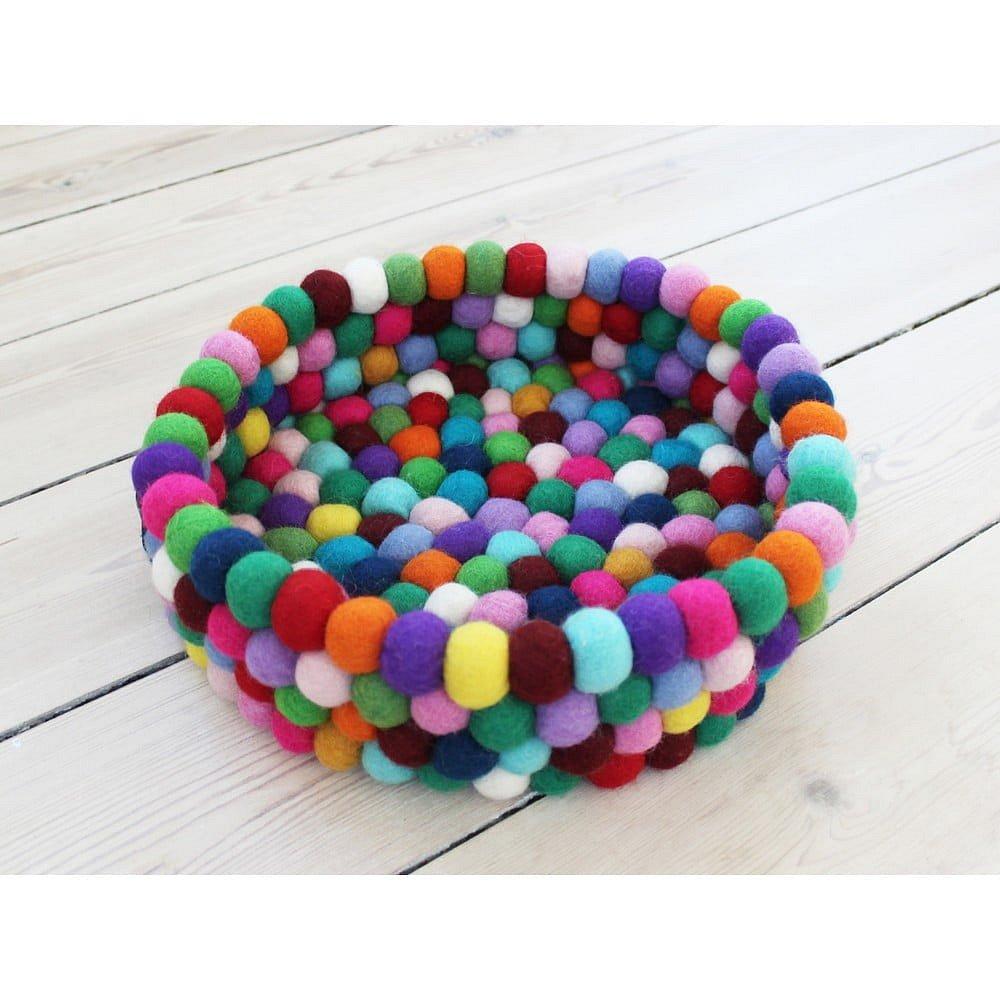 Kuličkový vlněný úložný košík Wooldot Ball Basket Multi, ⌀ 28 cm