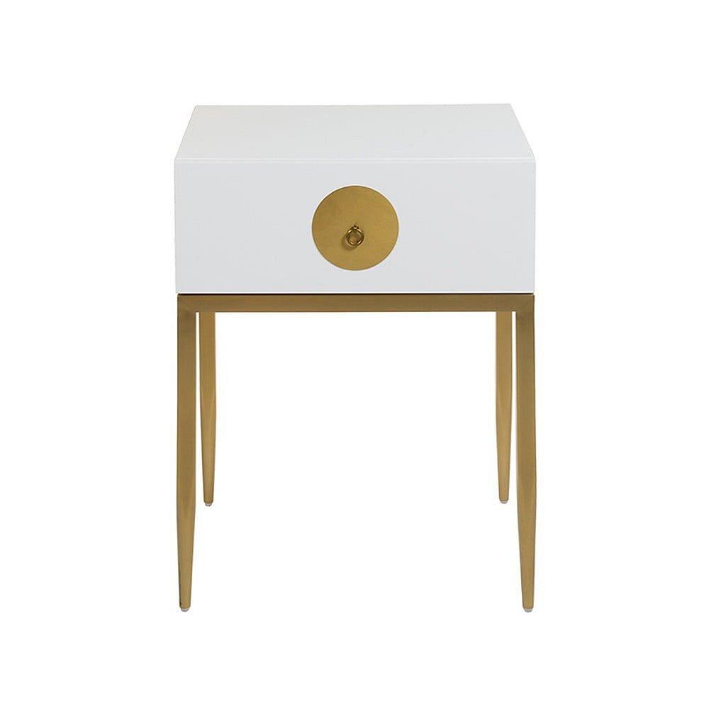 Bílý noční stolek Santiago Pons Dot