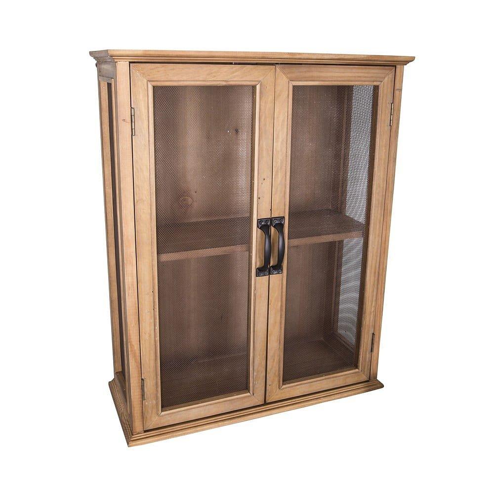 Malá dvoupatrová dřevěná vitrína Antic Line