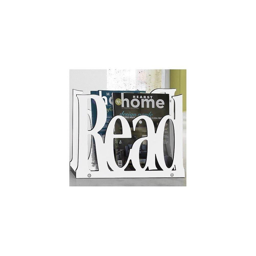 Bílý stojan na časopisy Tomasucci Read