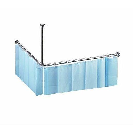 Bemeta tyč sprchového závěsu 1400x1400 mm, rohová, chrom 101120052