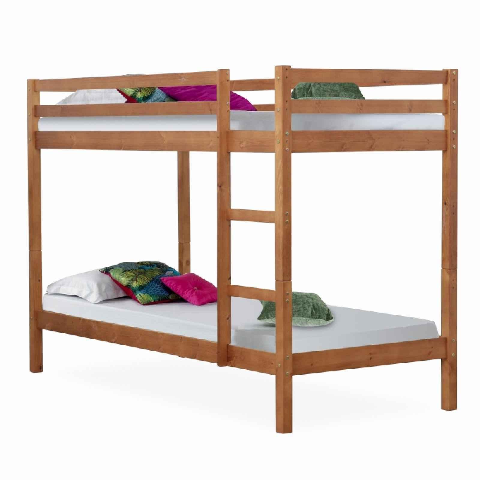 Patrová postel, borovicové dřevo světlehnědá, VERSO 0000213692 Tempo Kondela