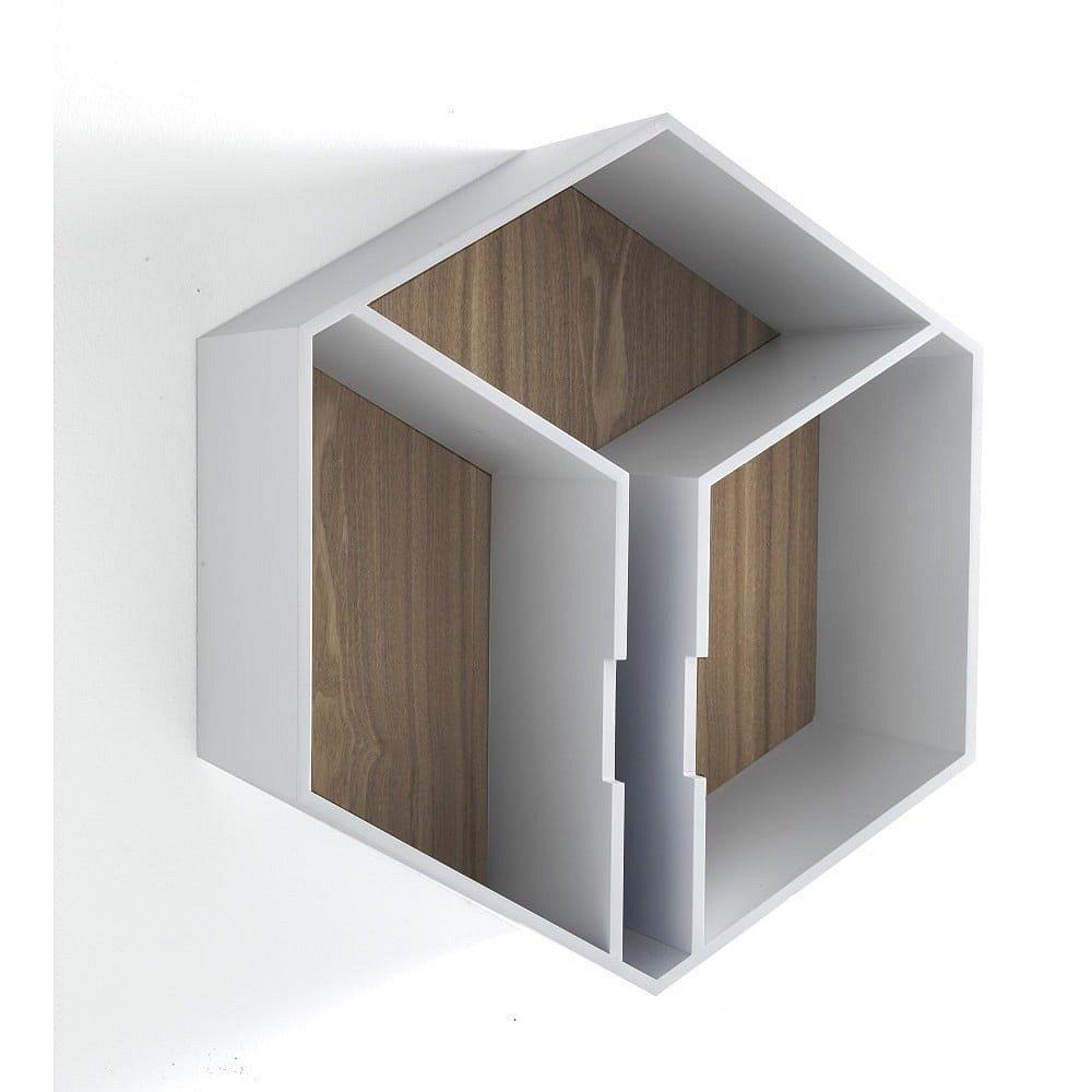 Nástěnná police z dubového dřeva Tomasucci Kubo