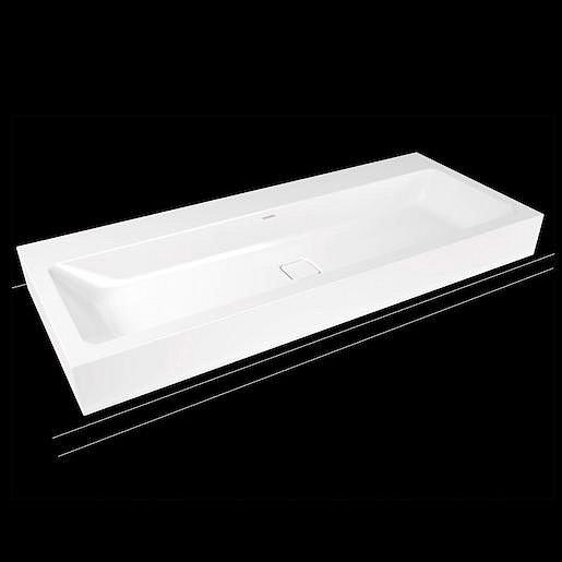Umyvadlo Kaldewei Cono 3091 120x50 cm alpská bílá bez otvoru pro baterii, bez přepadu 902706003001