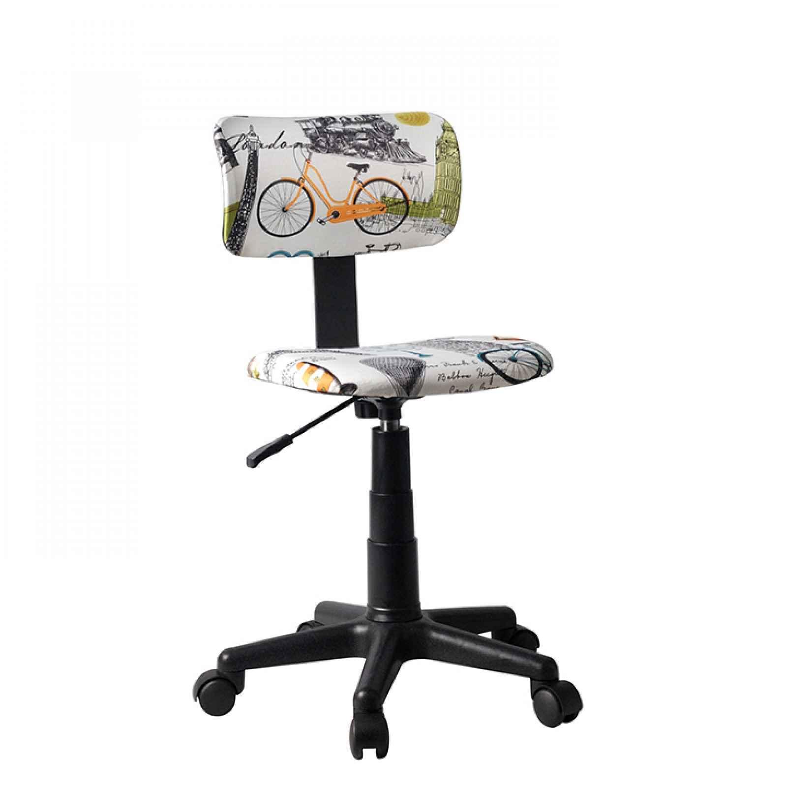 Otočná židle, látka vzor, KIDS 0000204127 Tempo Kondela