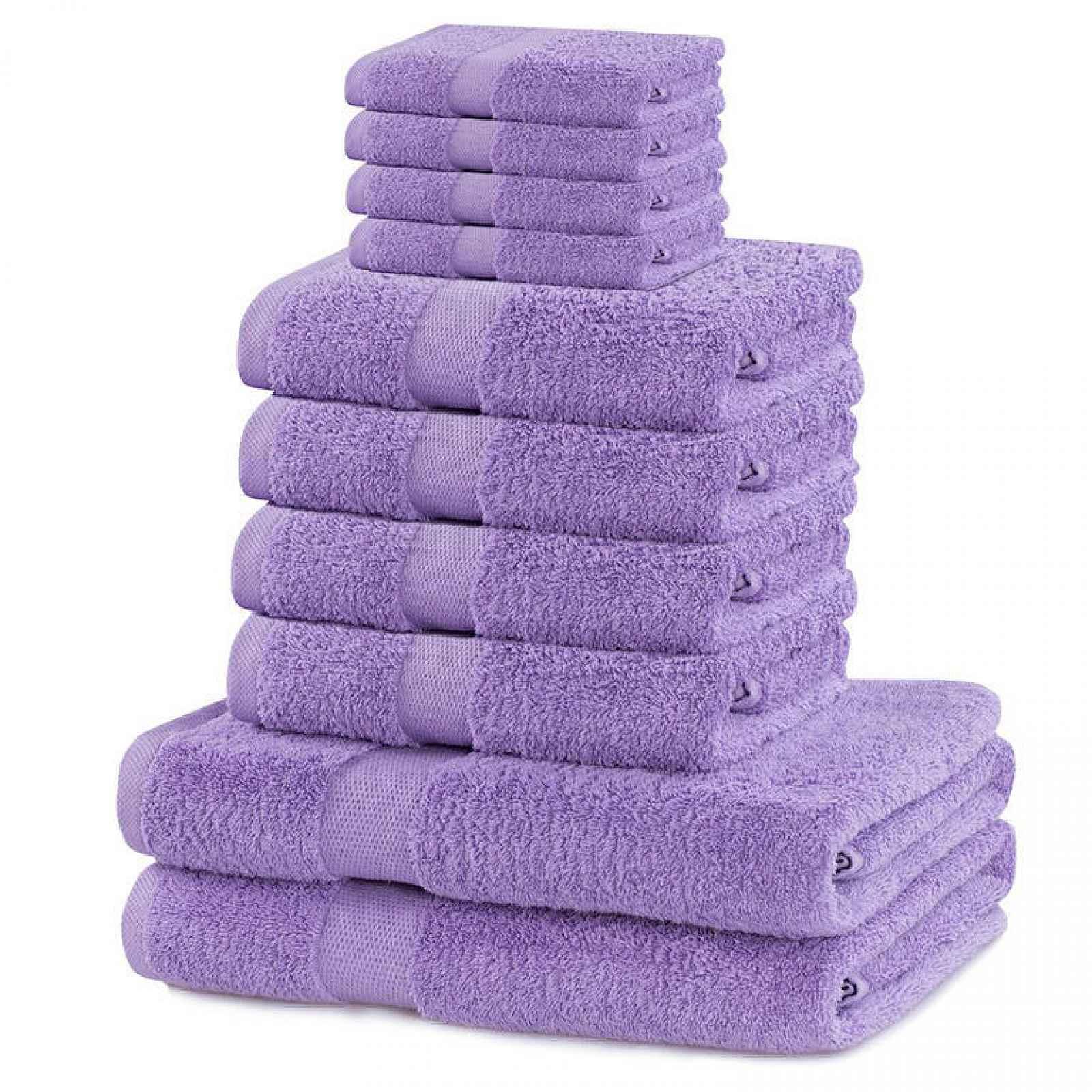 Sada froté ručníků a osušek MARINA lila10 ks