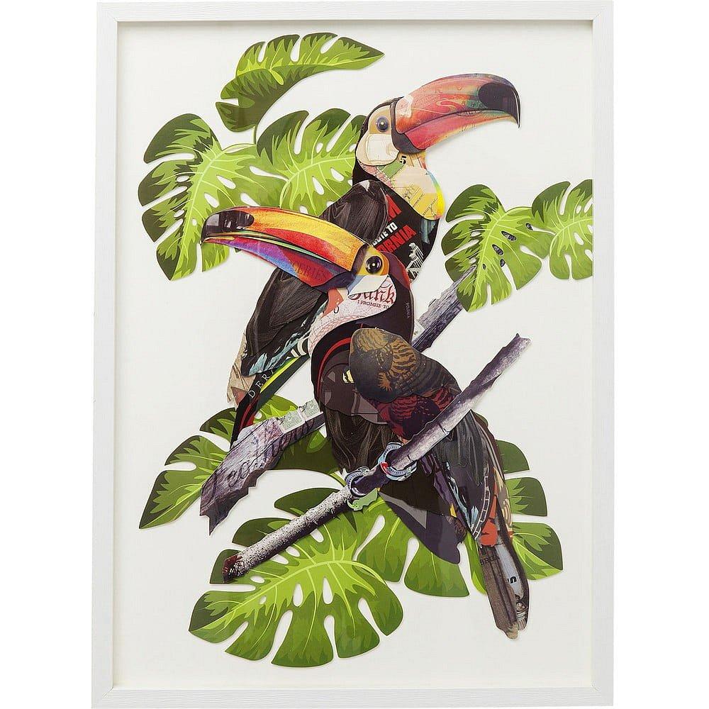 Obraz Kare Design Paradise Bird Couple, 70x50cm