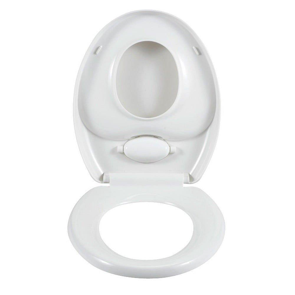Bílé toaletní prkénko Wenko Family Easy Close