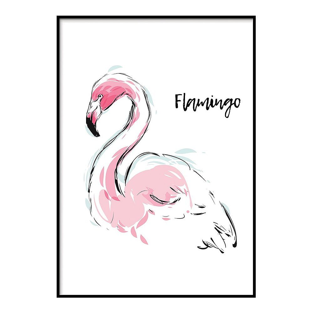 Plakát DecoKing Flamingo Aquarelle, 100 x 70 cm