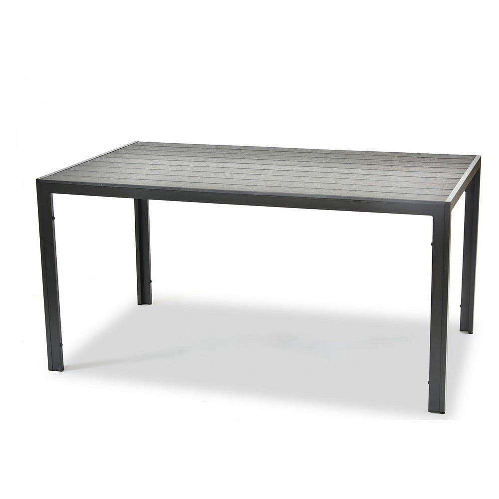 Černý zahradní jídelní stůl Timpana Romeo, délka 150 cm