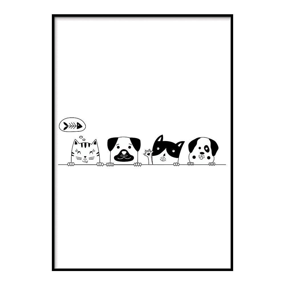 Plakát DecoKing Friends, 50 x 40 cm