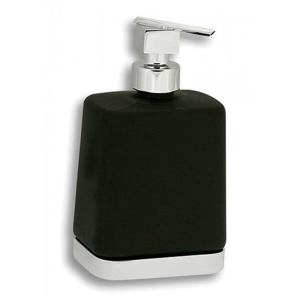 Dávkovač mýdla Novaservis Metalia 4 10 cm černá/chrom 6450,5